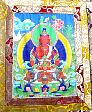 "A beautiful Tibetan ""Thangka"" painting ... painted by one of our students. (click to see it enlarged)"